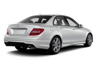 Diamond Silver Metallic 2013 Mercedes-Benz C-Class Pictures C-Class Sport Sedan 4D C250 photos rear view