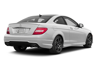 Polar White 2013 Mercedes-Benz C-Class Pictures C-Class Coupe 2D C350 AWD photos rear view