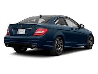 Lunar Blue Metallic 2013 Mercedes-Benz C-Class Pictures C-Class Coupe 2D C350 AWD photos rear view