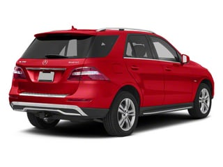 Cinnabar Red Metallic 2013 Mercedes-Benz M-Class Pictures M-Class Utility 4D ML350 BlueTEC AWD photos rear view