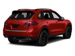 Carmine Red 2013 Porsche Cayenne Pictures Cayenne Utility 4D Turbo AWD (V8) photos rear view