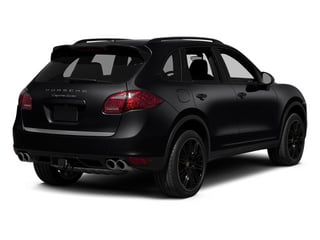 Black 2013 Porsche Cayenne Pictures Cayenne Utility 4D Turbo AWD (V8) photos rear view