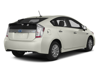 Blizzard Pearl 2013 Toyota Prius Plug-In Pictures Prius Plug-In Liftback 5D Plug-In Advanced Hybrid photos rear view