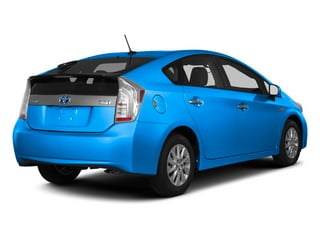 Clear Water Blue Metallic 2013 Toyota Prius Plug-In Pictures Prius Plug-In Liftback 5D Plug-In Advanced Hybrid photos rear view
