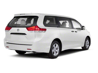 Super White 2013 Toyota Sienna Pictures Sienna Wagon 5D LE AWD V6 photos rear view