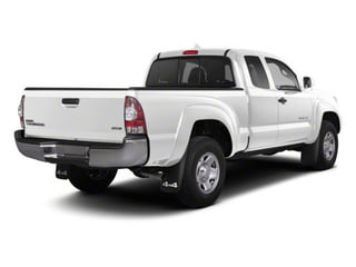 Super White 2013 Toyota Tacoma Pictures Tacoma Base Access Cab 4WD V6 photos rear view