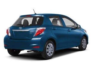 Blazing Blue Pearl 2013 Toyota Yaris Pictures Yaris Hatchback 5D LE I4 photos rear view