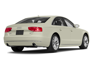 Glacier White Metallic 2014 Audi A8 Pictures A8 Sedan 4D 4.0T AWD V8 Turbo photos rear view