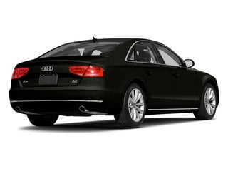 Havanna Black Metallic 2014 Audi A8 Pictures A8 Sedan 4D 4.0T AWD V8 Turbo photos rear view