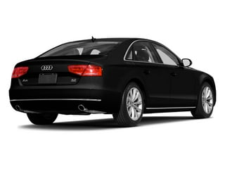 Phantom Black Pearl Effect 2014 Audi A8 Pictures A8 Sedan 4D 4.0T AWD V8 Turbo photos rear view