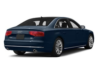 Night Blue Pearl Effect 2014 Audi A8 L Pictures A8 L Sedan 4D 3.0T L AWD V6 Turbo photos rear view