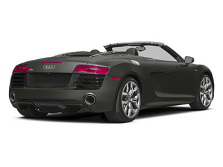 Daytona Gray Pearl Effect/Black Roof 2014 Audi R8 Pictures R8 2 Door Convertible Quattro Spyder V8 (Auto) photos rear view