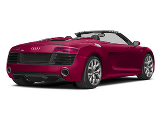 Brilliant Red/Black Roof 2014 Audi R8 Pictures R8 2 Door Convertible Quattro Spyder V8 (Auto) photos rear view