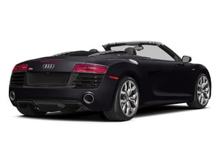 Panther Black Crystal Effect/Black Roof 2014 Audi R8 Pictures R8 2 Door Convertible Quattro Spyder V8 (Manual) photos rear view