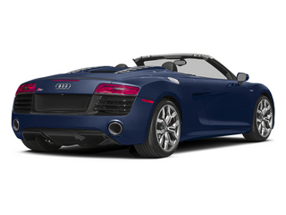 Estoril Blue Crystal Effect/Black Roof 2014 Audi R8 Pictures R8 2 Door Convertible Quattro Spyder V8 (Manual) photos rear view