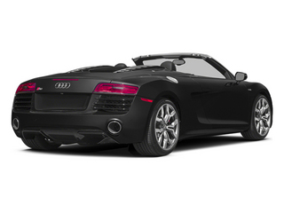 Phantom Black Pearl Effect/Black Roof 2014 Audi R8 Pictures R8 2 Door Convertible Quattro Spyder V8 (Manual) photos rear view