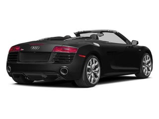 Phantom Black Pearl Effect/Black Roof 2014 Audi R8 Pictures R8 2 Door Convertible Quattro Spyder V8 (Auto) photos rear view