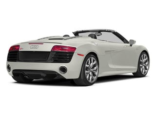 Ibis White/Black Roof 2014 Audi R8 Pictures R8 2 Door Convertible Quattro Spyder V8 (Auto) photos rear view