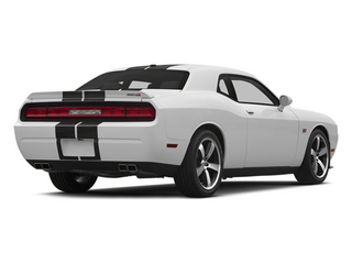 Bright White Clearcoat 2014 Dodge Challenger Pictures Challenger Coupe 2D SRT-8 V8 photos rear view