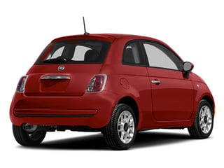 Rosso (Red) 2014 FIAT 500 Pictures 500 Hatchback 3D Pop I4 photos rear view