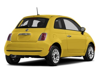 Giallo (Yellow) 2014 FIAT 500 Pictures 500 Hatchback 3D Pop I4 photos rear view