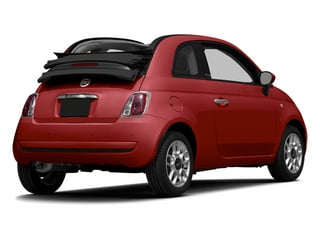 Rosso (Red) 2014 FIAT 500c Pictures 500c Convertible 2D Lounge I4 photos rear view