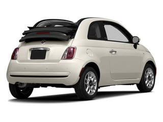 Bianco (White) 2014 FIAT 500c Pictures 500c Convertible 2D Lounge I4 photos rear view