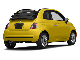Giallo (Yellow) 2014 FIAT 500c Pictures 500c Convertible 2D Lounge I4 photos rear view