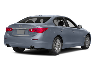 Hagane Blue 2014 INFINITI Q50 Pictures Q50 Sedan 4D Premium V6 Hybrid photos rear view