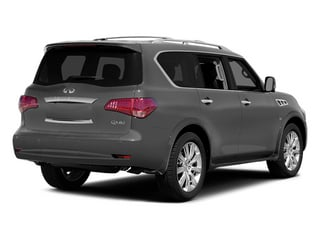 Platinum Graphite 2014 INFINITI QX80 Pictures QX80 Utility 4D 2WD V8 photos rear view