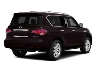 Dark Currant 2014 INFINITI QX80 Pictures QX80 Utility 4D 2WD V8 photos rear view