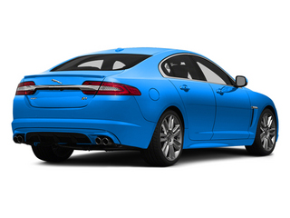 French Racing Blue 2014 Jaguar XF Pictures XF Sedan 4D XFR-S V8 Supercharged photos rear view