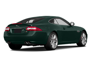 British Racing Green 2014 Jaguar XK Pictures XK Coupe 2D XKR V8 Supercharged photos rear view