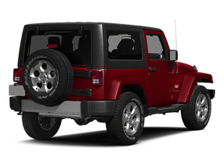 Flame Red Clearcoat 2014 Jeep Wrangler Pictures Wrangler Utility 2D Rubicon 4WD V6 photos rear view