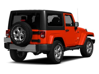 Firecracker Red Clear Coat 2014 Jeep Wrangler Pictures Wrangler Utility 2D Rubicon 4WD V6 photos rear view