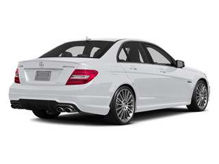 Polar White 2014 Mercedes-Benz C-Class Pictures C-Class Sport Sedan 4D C63 AMG photos rear view
