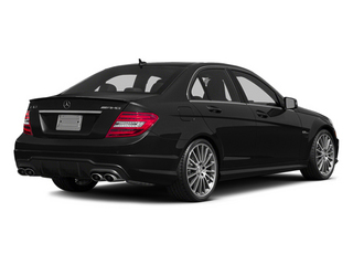 Obsidian Black Metallic 2014 Mercedes-Benz C-Class Pictures C-Class Sport Sedan 4D C63 AMG photos rear view