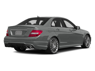 Palladium Silver Metallic 2014 Mercedes-Benz C-Class Pictures C-Class Sport Sedan 4D C63 AMG photos rear view