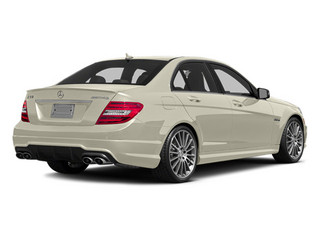 Diamond White Metallic 2014 Mercedes-Benz C-Class Pictures C-Class Sport Sedan 4D C63 AMG photos rear view