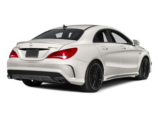 Cirrus White 2014 Mercedes-Benz CLA-Class Pictures CLA-Class Sedan 4D CLA45 AMG AWD I4 Turbo photos rear view