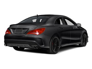 Night Black 2014 Mercedes-Benz CLA-Class Pictures CLA-Class Sedan 4D CLA45 AMG AWD I4 Turbo photos rear view
