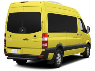 Calcite Yellow 2014 Mercedes-Benz Sprinter Passenger Vans Pictures Sprinter Passenger Vans Passenger Van photos rear view