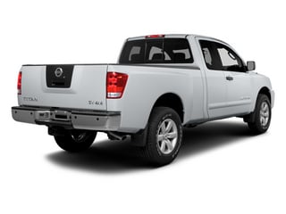 Glacier White 2014 Nissan Titan Pictures Titan King Cab S 4WD photos rear view