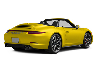 Racing Yellow 2014 Porsche 911 Pictures 911 Cabriolet 2D 4 AWD H6 photos rear view