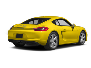 Racing Yellow 2014 Porsche Cayman Pictures Cayman Coupe 2D H6 photos rear view