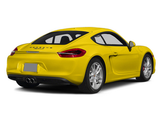 Racing Yellow 2014 Porsche Cayman Pictures Cayman Coupe 2D S H6 photos rear view