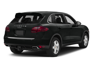 Jet Black Metallic 2014 Porsche Cayenne Pictures Cayenne Utility 4D Platinum AWD V6 T-Diesel photos rear view