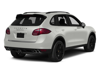 White 2014 Porsche Cayenne Pictures Cayenne Utility 4D AWD V8 Turbo photos rear view