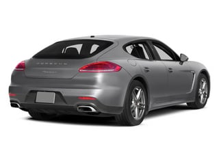GT Silver Metallic 2014 Porsche Panamera Pictures Panamera Hatchback 4D S V6 Turbo photos rear view