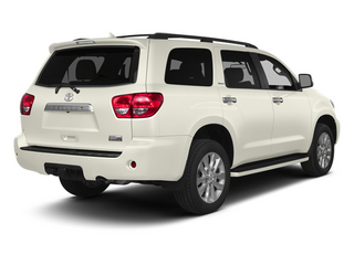 Blizzard Pearl 2014 Toyota Sequoia Pictures Sequoia Utility 4D Platinum 4WD V8 photos rear view
